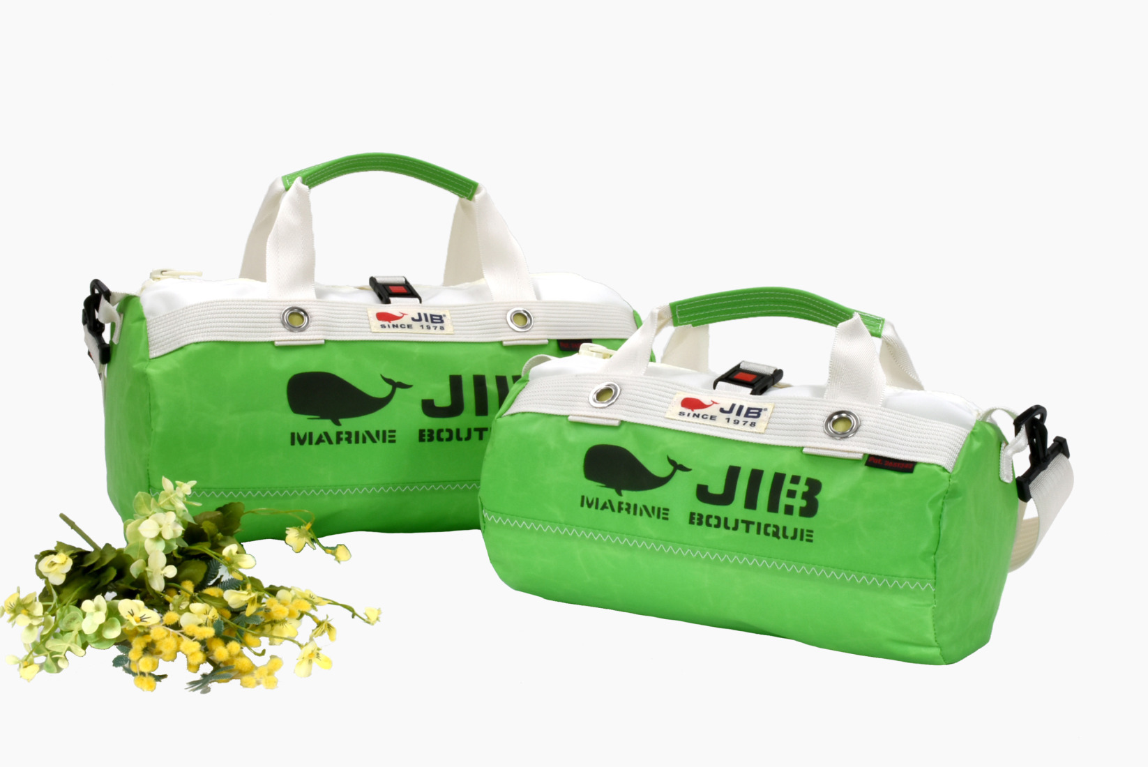 Grass Green Series●Border Duffle Bag